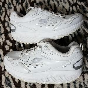 Skechers Leather Rocker Bottom Walking Shoes